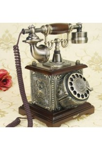 Telefon fix cu model vintage, perfect functional